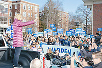 Democratic presidential candidate and Massachusetts senator Elizabeth Warren speaks to supporters outside Graham & Parks School after the candidate voted in the Massachusetts primary as part of Super Tuesday voting in Cambridge, Massachusetts, on Tue., March 3, 2020. The polling place is just a few blocks from Warren's residence. Polls show Warren and Vermont senator Bernie Sanders in a near tie in the Massachusetts Democratic party primary.