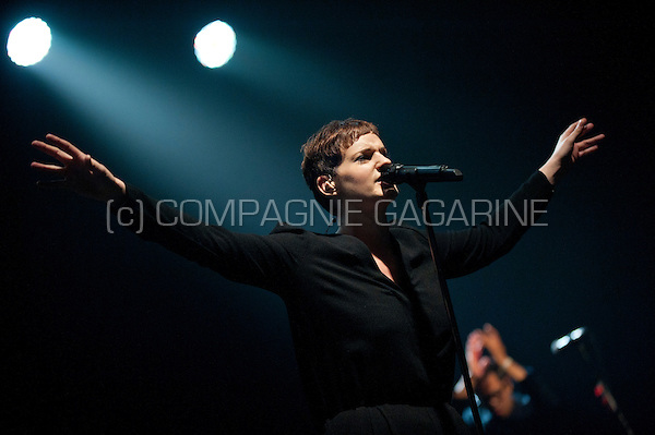 Concert of the Belgian trip hop band Hooverphonic at the Crammerock festival, in Stekene (Belgium, 06/09/2014)