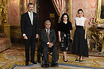 King Felipe VI of Spain (2L) and Queen Letizia of Spain (2R) receive Ecuador President Lenin Moreno (L) and wife Rocio Gonzalez (R) because of the United Nations conference for the Climate Summit 2019 (COP25) at the Royal Palace. December 2,2019. (ALTERPHOTOS/Pool/Carlos Alvarez)