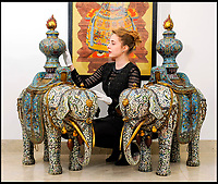 Large Chinese Elephants up for auction.