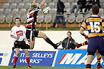 James Maher charges down the clearing kick of Murray Williams during the Air NZ Cup rugby game between Bay of Plenty & Counties Manukau played at Blue Chip Stadium, Mt Maunganui on 16th of September, 2006. Bay of Plenty won 38 - 11.