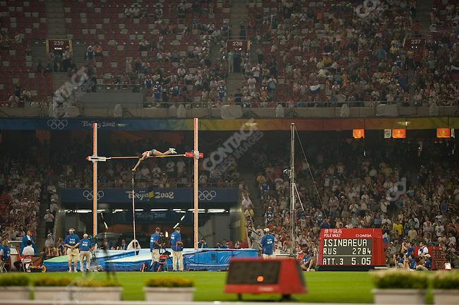Women's Pole Vaulte, Yelena Isinbayeva (Russia) -gold, National Stadium, Summer Olympics, Beijing, China, August 18, 2008