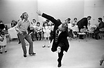 """Dad dancing 1972 London Wedding. 1970s UK. <br /> """"Dad dancing"""" The making of embarrassing flamboyant dance moves to pop music by middle-aged men."""
