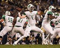Marshall quarterback Chase Litton. The Pitt Panthers defeated the Marshall Thundering Herd 43-27 on October 1, 2016 at Heinz Field in Pittsburgh, Pennsylvania.