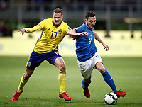 Soccer Football - 2018 World Cup Qualifications - Europe - Italy vs Sweden - San Siro, Milan, Italy - November 13, 2017 <br /> Italy's Matteo Darmian (r) in action with Sweden's Viktor Claesson (l) during the the FIFA World Cup 2018 qualification football match between Italy and Sweden at the San Siro Stadium in Milan on November 13, 2017.<br /> UPDATE IMAGES PRESS/Isabella Bonotto
