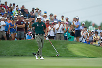 Adam Scott on the 9th green during the opening round of the US PGA Championship at Valhalla (Photo: Anthony Powter) Picture: Anthony Powter / www.golffile.ie