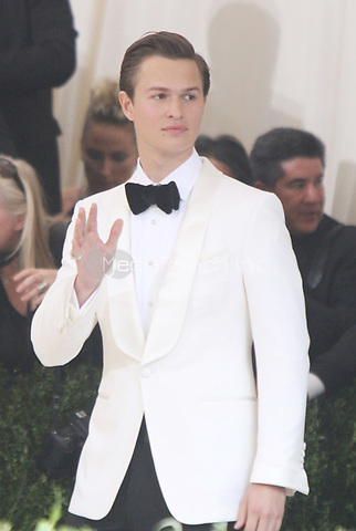 NEW YORK, NY May 01, 2017 Ansel Elgort attend  The Metropolitan Museum of Art Costume Institute Benefit Gala for Rei Kawakubo Comme des Garcons at  Metropolitan Museum of Art  in New York May 01,  2017. Credit:RW/MediaPunch