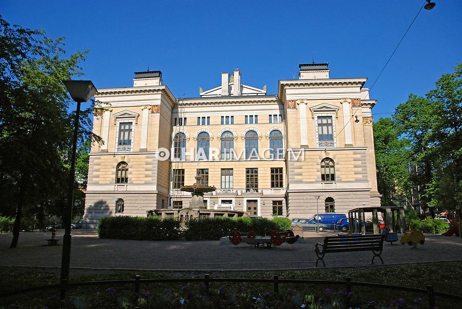 Casarão na cidade de Helsinki. Finlândia. 2007. Foto de Vinicius Romanini.