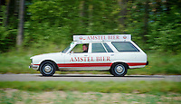 official sponsor car proceeding the race = vintage racing<br /> <br /> Amstel Gold Race 2014