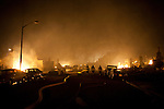 SAN BRUNO, CA - SEPTEMBER 9: The scene of a fire September 9, 2010 in a San Bruno, California residential street. A massive explosion rocked a neighborhood near San Francisco International Airport.