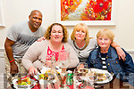 l-r Fabian Lugandu and Casandra Looby from Tralee enjoying a double birhday dinner with their two friends Bridie Wright and Carmel McNamara  from England on Friday night at DB's Denny Lane. Carmel was celebrating her 50th while Bridie was keeping quiet.