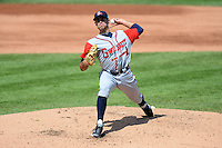 Gwinnett Braves starting pitcher Sean Gilmartin #11 during a game against the Rochester Red Wings on June 16, 2013 at Frontier Field in Rochester, New York.  Rochester defeated Gwinnett 6-3.  (Mike Janes/Four Seam Images)