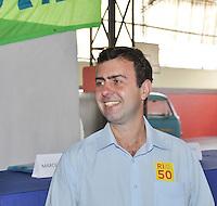 ATENCAO EDITOR FOTO EMBARCADA PARA VEICULOS INTERNACIONAIS - <br /> Rio de Janeiro (RJ) 17.09.2012. Debate/Candidato Marcelo Fleixo do Psol.<br /> <br /> -Debate do Cadidato a Prefeito do Rio de Janeiro, Marcelo Fleixo do PSOL. No Colégio Lemo de Castro nesta manhã de segunda feira dia (17.09), em Madureira,Zona Norte do Rio de Janeiro. Foto: ARION MARINHO / BRAZIL PHOTO PRESS.