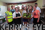 Beaufort Youth Club are helping the local community by supplying fresh vegetables from their garden to Beaufort Community Care. <br /> Front L-R Margaret Sweeney (Beaufort Community Care), Shelia O'Connor (Beaufort Community Care), Saoirse Clifford and Aoife O'Brien (Beaufort Youth Club) and Rose Mangan (Beaufort Youth Club Leader) <br /> Back L-R Padraig O'Donoghue (Beaufort CE scheme), Brian O'Connor (Beaufort CE scheme), Pat Cuffe (Beaufort Youth Club Leader), Sara Peden and Eugene Murphy (Beaufort Community Care).