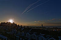 2018 03 20 Sun rises over Swansea Bay, SPring Equinox, Wales, UK
