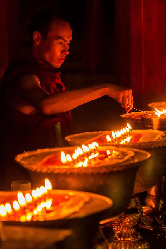 Samye Monastery, Chatang, Lhoka (Shannan) Prefecture, Tibet (Xizang), China. Samye is the first Buddhist monastery built in Tibet.