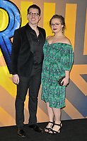 Oliver Ormson and Carrie Hope Fletcher at the &quot;Black Panther&quot; European film premiere, Hammersmith Apollo (Eventim Apollo), Queen Caroline Street, London, England, UK, on Thursday 08 February 2018.<br /> CAP/CAN<br /> &copy;CAN/Capital Pictures