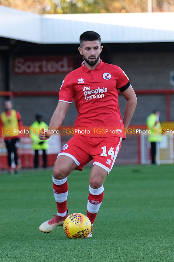 George Francomb of Crawley Town during Crawley Town vs MK Dons, Sky Bet EFL League 2 Football at Broadfield Stadium on 3rd November 2018