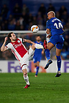 Deyverson of Getafe CF and Daley Blind of AFC Ajax during UEFA Europa League match between Getafe CF and AFC Ajax at Coliseum Alfonso Perez in Getafe, Spain. February 20, 2020. (ALTERPHOTOS/A. Perez Meca)