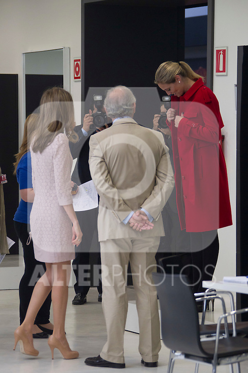 Princess Letizia visits MANGO Design Center 'Hangar Design Center' near Barcelona on April 7th 2011...Photo. Ceasr Cebolla / ALFAQUI