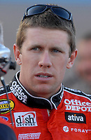 Apr 19, 2007; Avondale, AZ, USA; Nascar Nextel Cup Series driver Carl Edwards (99) during qualifying for the Subway Fresh Fit 500 at Phoenix International Raceway. Mandatory Credit: Mark J. Rebilas