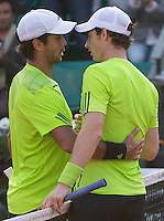 ANDY MURRAY (GER), FERNANDO VERDASCO (ESP)<br /> <br /> Tennis - French Open 2014 -  Toland Garros - Paris -  ATP-WTA - ITF - 2014  - France - <br /> 2nd June 2014. <br /> <br /> &copy; AMN IMAGES