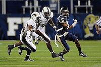 22 November 2008:  FIU wide receiver Jeremy Dickens (5) breaks away from ULM defenders in the ULM 31-27 victory over FIU at FIU Stadium in Miami, Florida.