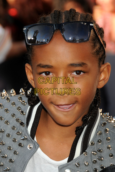 "JADEN SMITH .""The Twilight Saga: Eclipse"" Los Angeles Premiere at the 2010 Los Angeles Film Festival held at Nokia Theatre LA Live, Los Angeles, California, USA, 24th June 2010..portrait headshot sunglasses studded studs silver  leather.CAP/ADM/BP.©Byron Purvis/AdMedia/Capital Pictures."