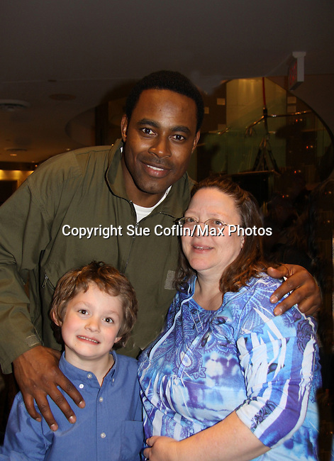 Lamman Rucker & Vikki Thompson & Kameron - Layon Gray's Black Angels Over Tuskegee was performed on February 25, 2011 at the United States Memorial in Washington, DC to celebrate Black History Month. (Photo by Sue Coflin/Max Photos)
