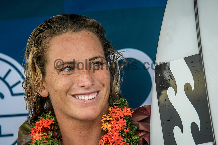 NAMOTU, Fiji (Sunday, June 4, 2017) Courtney Conlogue (USA) -  The world&rsquo;s best surfers have arrived in the South Pacific for Stop No. 5 on the 2017 World Surf League (WSL) Championship Tour (CT), the Outerknown Fiji Pro and they went straight into first day action with Round 1 of the men's called on for an 8am start.  <br /> <br /> The delayed final of the Outerknown Fiji Women&rsquo;s Pro was run prior to the start of the Men's Round 1 with California&rsquo;s Courtney Conlogue (USA) taking the win over Hawaii&rsquo;s Tatiana Weston-Webb (HAW)<br /> <br /> The 2017 World Title the race for the men is closer than ever heading into Fiji with only 300 points separating No. 1 on the Jeep Leaderboard, John John Florence (HAW), from 2015 WSL Champion Adriano de Souza (BRA), and 2017 World Title contenders Jordy Smith (ZAF) and Owen Wright (AUS). <br /> <br /> <br /> Photo: joliphotos.com