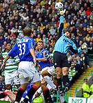 Stefan Klos saves Rangers , 11th Feb 2001 Celtic Park