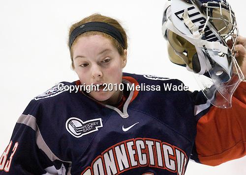 Alexandra Garcia (UConn - 83) - The University of Connecticut Huskies defeated the Northeastern University Huskies 4-1 in Hockey East quarterfinal play on Saturday, February 27, 2010, at Matthews Arena in Boston, Massachusetts.