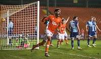 Blackpool's Kelvin Mellor celebrates scoring his sides first goal <br /> <br /> Photographer Alex Dodd/CameraSport<br /> <br /> Checkatrade Trophy Round 3 Blackpool v Wycombe Wanderers - Tuesday 10th January 2017 - Bloomfield Road - Blackpool<br />  <br /> World Copyright &copy; 2017 CameraSport. All rights reserved. 43 Linden Ave. Countesthorpe. Leicester. England. LE8 5PG - Tel: +44 (0) 116 277 4147 - admin@camerasport.com - www.camerasport.com