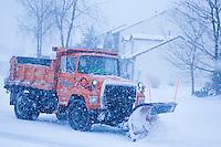 Snow removal truck, Lumberton, New Jersey