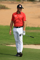 Joel Girrbach (SUI) in action during round 3, Ras Al Khaimah Challenge Tour Grand Final played at Al Hamra Golf Club, Ras Al Khaimah, UAE. 02/11/2018<br /> Picture: Golffile | Phil Inglis<br /> <br /> All photo usage must carry mandatory copyright credit (&copy; Golffile | Phil Inglis)