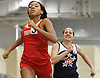 Nakacee McNab of Freeport wins the girls' 600 meter race during a Nassau County winter track & field meet at St. Anthony's High School in South Huntington on Tuesday, Dec. 19, 2017. She posted a time of 1:46.10.