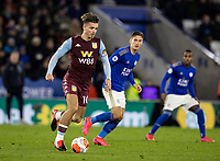Aston Villa's Jack Grealish (left) breaks <br /> <br /> Photographer Andrew Kearns/CameraSport<br /> <br /> The Premier League - Leicester City v Aston Villa - Monday 9th March 2020 - King Power Stadium - Leicester<br /> <br /> World Copyright © 2020 CameraSport. All rights reserved. 43 Linden Ave. Countesthorpe. Leicester. England. LE8 5PG - Tel: +44 (0) 116 277 4147 - admin@camerasport.com - www.camerasport.com
