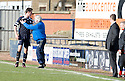 BRIAN GRAHAM IS HELD BACK FROM THE AYR BENCAH AFTER BEING SENT OFF