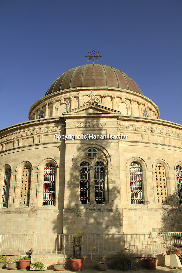 Israel, the dome of the Ethiopian Orthodox Church (Debra Gannet) in West Jerusalem
