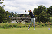 Fredrik Nilehn of Team Sweden on the 1st tee during Round 3 of the WATC 2018 - Eisenhower Trophy at Carton House, Maynooth, Co. Kildare on Friday 7th September 2018.<br /> Picture:  Thos Caffrey / www.golffile.ie<br /> <br /> All photo usage must carry mandatory copyright credit (&copy; Golffile | Thos Caffrey)