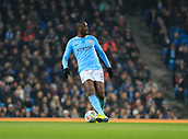 9th January 2018, Etihad Stadium, Manchester, England; Carabao Cup football, semi-final, 1st leg, Manchester City versus Bristol City; Yaya Toure of Manchester City controls the ball in midfield