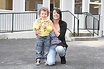 Jane and Isaac Daly at the Open Day for the new Scoil Olibhear Naofa, Ballymakenny Road...Picture Jenny Matthews/Newsfile.ie