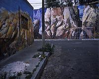 Muraed walls in Las Americas, Mexico City, Mexico