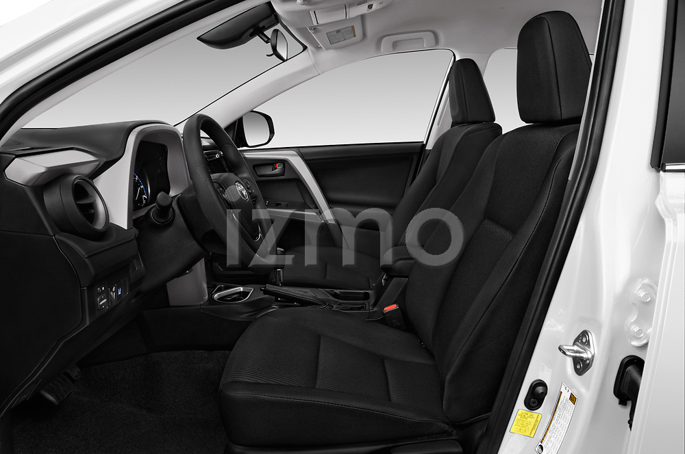 Front seat view of a 2017 Toyota RAV4 LE 5 Door SUV front seat car photos