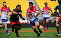 Kalim Kelemete in action during the Heartland Championship rugby match between Horowhenua Kapiti and Wairarapa Bush at Westpac Stadium in Wellington, New Zealand on Sunday, 1 October 2017. Photo: Dave Lintott / lintottphoto.co.nz