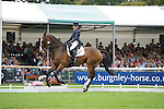 Louise Harwood [GBR] riding Mr Potts during the Dressage phase of the 2014 Land Rover Burghley Horse Trials held at Burghley House, Stamford, Lincolnshire