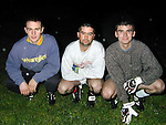 Sydden GFC Left to Right.Pat Meade, Trevor Gilsenan and Ian Curran.Picture by Fran Caffrey Newsfile