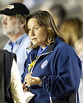 Carolina Courage Assistant General Manager Marcia McDermott at SAS Stadium in Cary, North Carolina on 3/22/03 before a game between the Carolina Courage and University of North Carolina Tarheels.