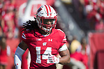Wisconsin Badgers defensive back D'Cota Dixon (14) during an NCAA Big Ten Conference football game against the Maryland Terrapins Saturday, October 21, 2017, in Madison, Wis. The Badgers won 38-13. (Photo by David Stluka)