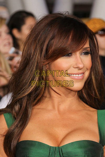 JENNIFER LOVE HEWITT.The Los Angeles premiere of 'The Twilight Saga Breaking Dawn Part 1' at Nokia Theatre at L.A. Live in Los Angeles, California, USA..November 14th, 2011.headshot portrait cleavage green strapless corset .CAP/CEL .©CelPh/Capital Pictures